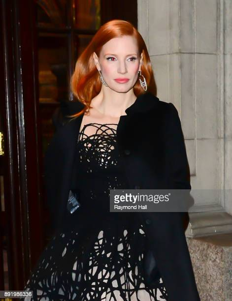 Actress Jessica Chastain is seen walking in Midtown on December 13 2017 in New York City