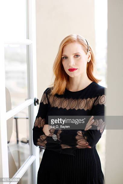 Actress Jessica Chastain of the film 'Miss Sloane' is photographed for Los Angeles Times on November 4 2016 in Los Angeles California PUBLISHED IMAGE...