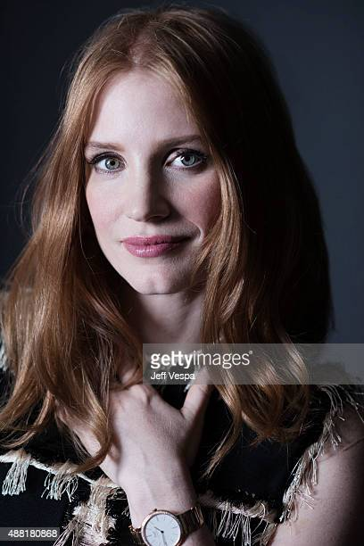 Actress Jessica Chastain of 'The Martian' poses for a portrait at the 2015 Toronto Film Festival at the TIFF Bell Lightbox on September 11 2015 in...