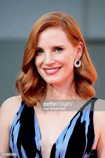 Actress Jessica Chastain poses for a photo during her Hand and Footprint Ceremony at TCL Chinese Theatre on November 3, 2016 in Hollywood, California.
