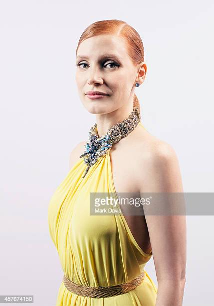 APPROVAL Actress Jessica Chastain poses for a portrait at the 28th American Cinematheque Award Honoring Matthew McConaughey on October 21 2014 in...