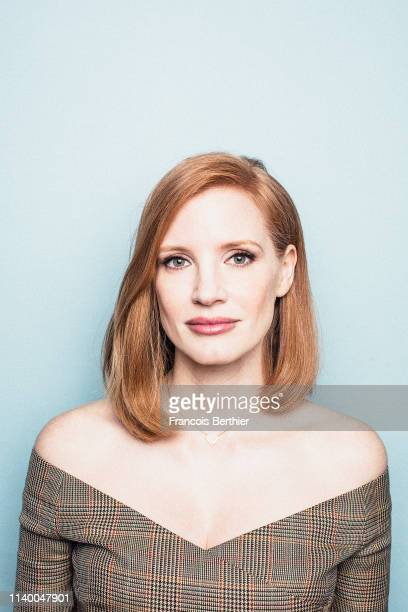 Actress Jessica Chastain poses for a portrait, on April 2019 in Paris, France. . .