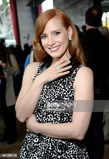 Actress Jessica Chastain wearing Piaget attends the 2015 Film Independent Filmmaker Grant and Spirit Awards nominee brunch with Piaget at BOA...