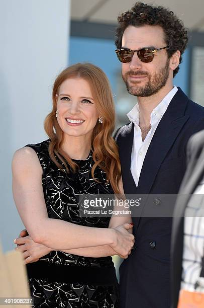 Actress Jessica Chastain with boyfriend Gian Luca Passi De Preposulo attend The Homesman photocall during the 67th Annual Cannes Film Festival on May...