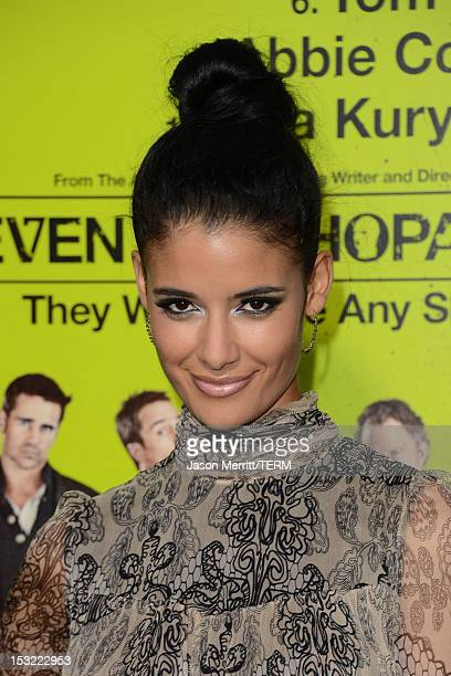 Actress Jessica Clark arrives at the premiere of CBS Films' 'Seven Psychopaths' at Mann Bruin Theatre on October 1 2012 in Westwood California