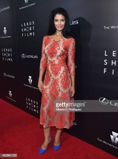 Actress Jessica Clark arrives to The Weinstein Company and Lexus Present Lexus Short Films at The Regal Cinemas L.A. Live on July 30, 2014 in Los...