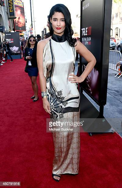 Actress Jessica Clark attends Premiere Of HBO's True Blood Season 7 And Final Season at TCL Chinese Theatre on June 17 2014 in Hollywood California