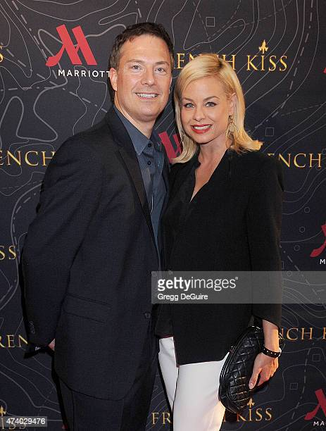 Actress Jessica Collins and Michael Cooney arrive at the premiere of French Kiss at the Marina del Rey Marriott on May 19 2015 in Marina del Rey...