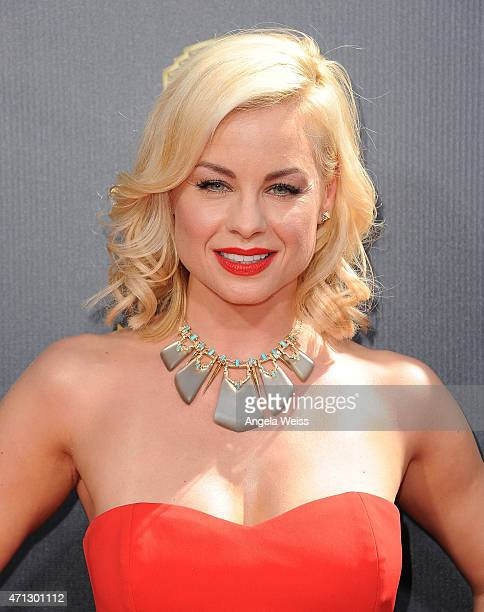 Actress Jessica Collins arrives at the 42nd Annual Daytime Emmy Awards at Warner Bros Studios on April 26 2015 in Burbank California