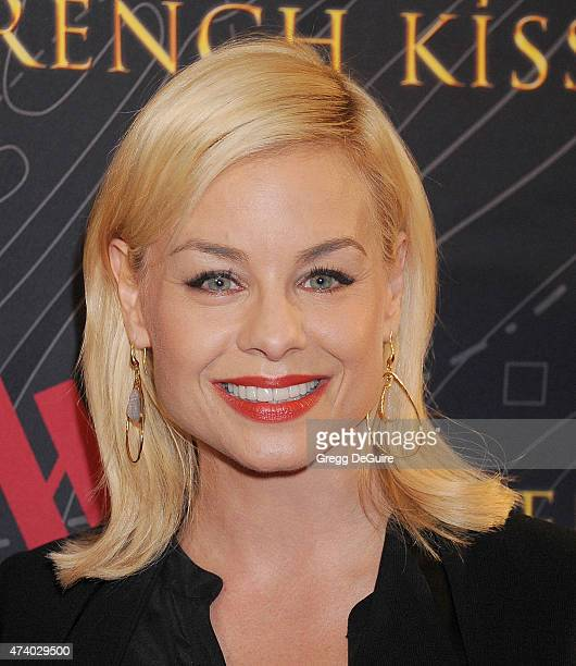 Actress Jessica Collins arrives at the premiere of French Kiss at the Marina del Rey Marriott on May 19 2015 in Marina del Rey California