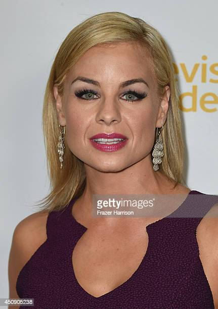 Actress Jessica Collins attends Television Academy's Daytime Programming Peer Group's 41st Annual Daytime Emmy Nominees Celebration at The London...