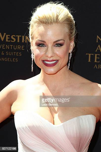 Actress Jessica Collins attends the 2016 Daytime Emmy Awards Arrivals at Westin Bonaventure Hotel on May 1 2016 in Los Angeles California