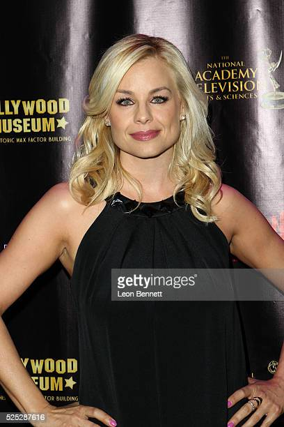Actress Jessica Collins attends the 2016 Daytime Emmy Awards Nominees Reception Arrivals at The Hollywood Museum on April 27 2016 in Hollywood...