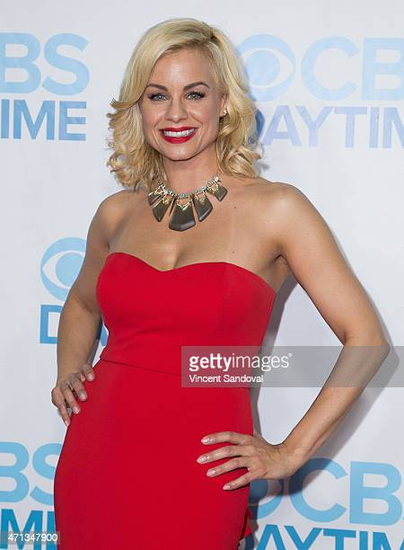Actress Jessica Collins attends the CBS Daytime Emmy after party at Hollywood Athletic Club on April 26 2015 in Hollywood California