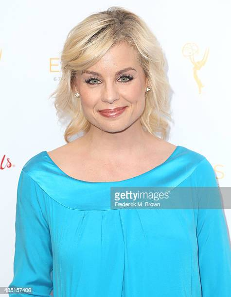 Actress Jessica Collins attends the Television Academy's Performers Peer Group Hold Cocktail Reception to Celebrate the 67th Emmy Awards at the...