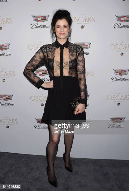 Actress Jessica De Gouw attends Cadillac's 89th annual Academy Awards celebration at Chateau Marmont on February 23 2017 in Los Angeles California