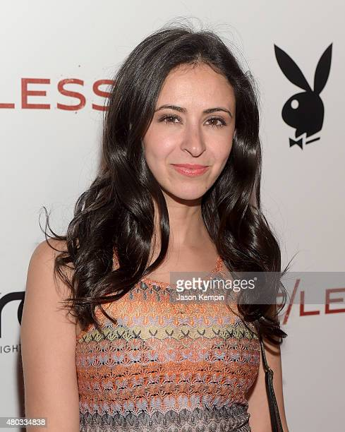Actress Jessica DiCicco attends Playboy and Gramercy Pictures' Self/less party during Comic-Con weekend at Parq Restaurant & Nightclub on July 10,...