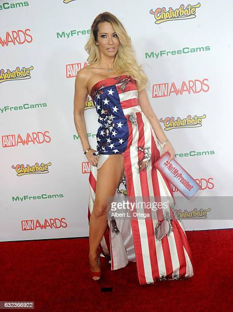 Actress jessica drake arrives at the 2017 Adult Video News Awards held at the Hard Rock Hotel Casino on January 21 2017 in Las Vegas Nevada
