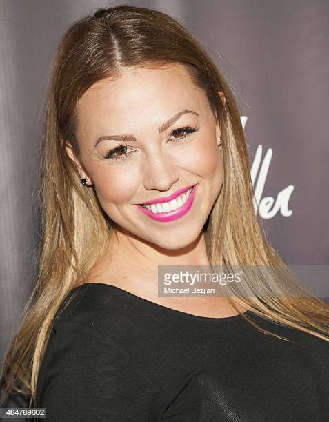 Actress Jessica Hall attends Caroline Burt DJs At Victoria Fuller's The Beauty Code Art Show at The Redbury Hotel on February 25 2015 in Hollywood...