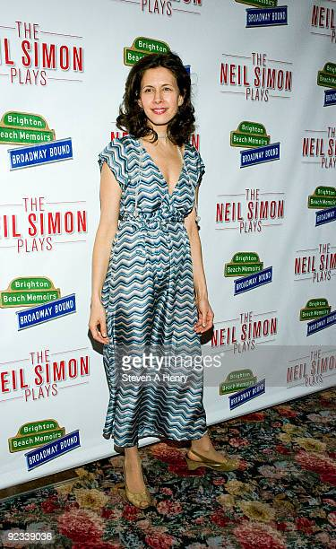 Actress Jessica Hecht attends the opening night party for 'Brighton Beach Memoirs' on Broadway at the Tavern On The Green on October 25 2009 in New...