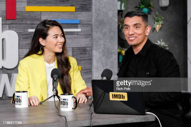 Actress Jessica Henwick and host Tim Kash on the set of 'The IMDb Show' LIVE on Twitch on January 8, 2020 in Santa Monica, California. This episode...