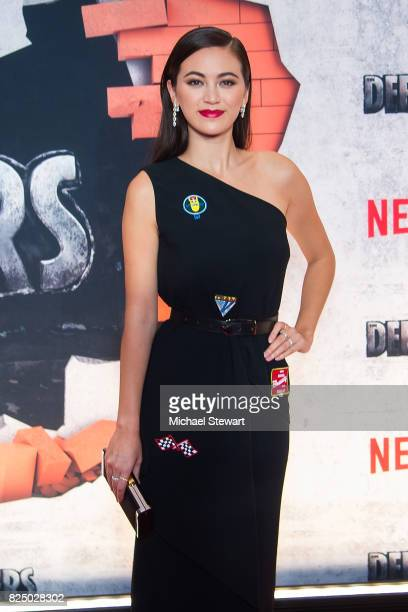 Actress Jessica Henwick attends the 'Marvel's The Defenders' New York premiere at Tribeca Performing Arts Center on July 31 2017 in New York City