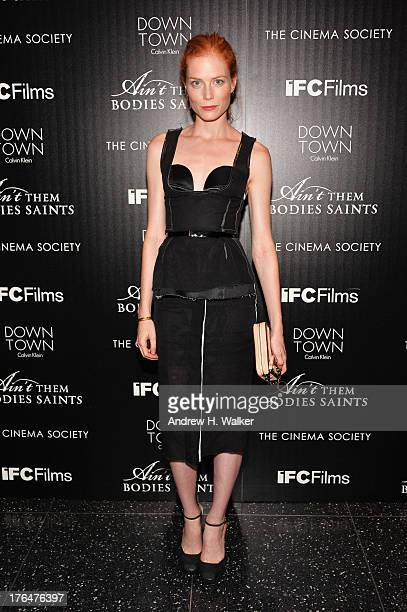 Actress Jessica Joffe attends the Downtown Calvin Klein with The Cinema Society screening of IFC Films' Ain't Them Bodies Saints at the Museum of...