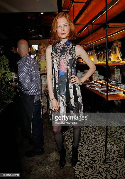 Actress Jessica Joffe attends Vogue's Triple Threats dinner hosted by Sally Singer and Lisa Love at Goldie's on April 3 2013 in Los Angeles California