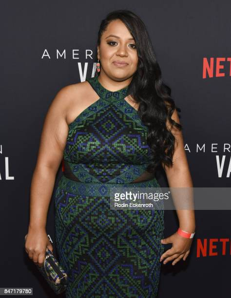Actress Jessica Juarez attends the premiere of Netflix's American Vandal at ArcLight Hollywood on September 14 2017 in Hollywood California