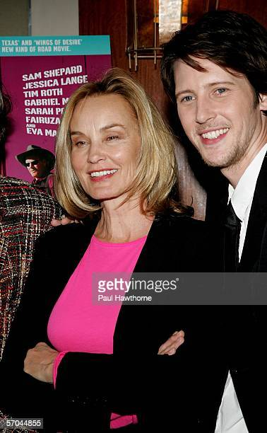 Actress Jessica Lange and actor Gabriel Mann attend the New York premiere of Don't Come Knocking reception at Norma's in Le Parker Meridien March 9...