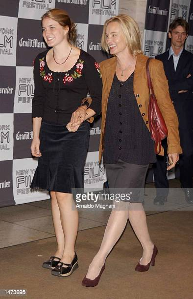 Actress Jessica Lange and daughter Shura Baryshnikov attend US premiere of Pedro Almodovar's Talk to Her at Avery Fisher Hall Lincoln Center on...