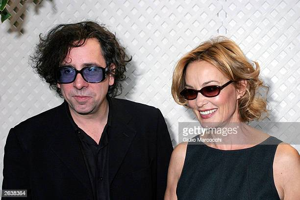 Actress Jessica Lange and director Tim Burton attend 10th Annual Premiere Women in Hollywood Luncheon at the Four Season Hotel October 23 2003 in...