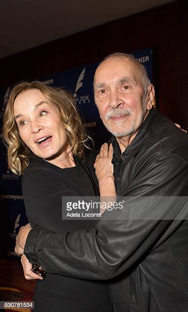Actress Jessica Lange and Frank Langella attend the 2016 Drama Desk Awards Nominees Reception at The New York Marriott Marquis on May 11 2016 in New...