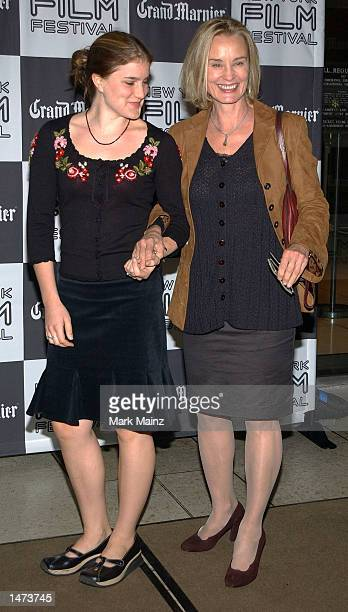 Actress Jessica Lange and her daughter Shura Baryshnikov attend the premiere of Pedro Almodovar's Talk To Her on October 13 2002 at Avery Fisher Hall...