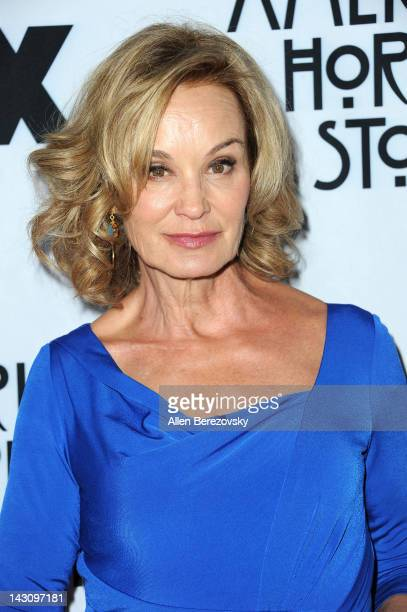 Actress Jessica Lange arrives at a special screening of American Horror Story presented by the Academy of Television Arts Sciences at Leonard H...