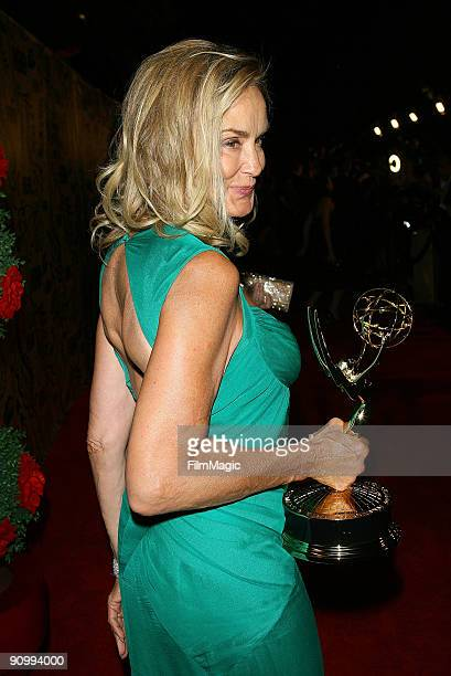 Actress Jessica Lange arrives on the red carpet at HBO's post Emmy Awards reception at Pacific Design Center on September 20 2009 in West Hollywood...