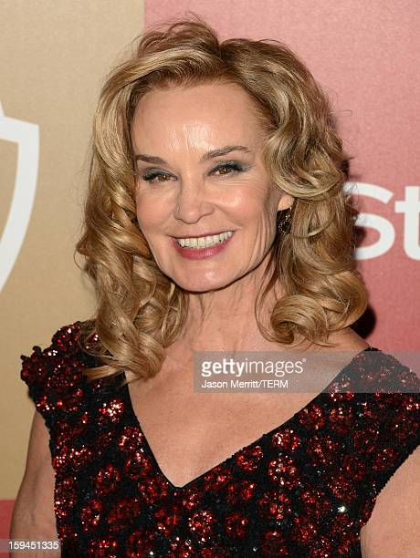 Actress Jessica Lange attends the 14th Annual Warner Bros And InStyle Golden Globe Awards After Party held at the Oasis Courtyard at the Beverly...