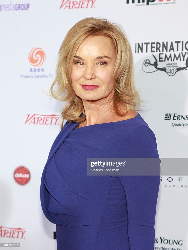Actress Jessica Lange attends the 40th International Emmy Awards at Mercury Ballroom at the New York Hilton on November 19, 2012 in New York City.