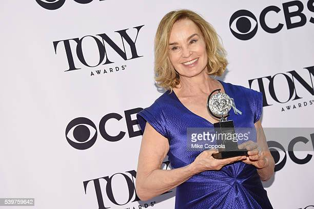 Actress Jessica Lange poses for a picture at the at 70th Annual Tony Awards Press Room Beacon Theatre on June 12 2016 in New York City