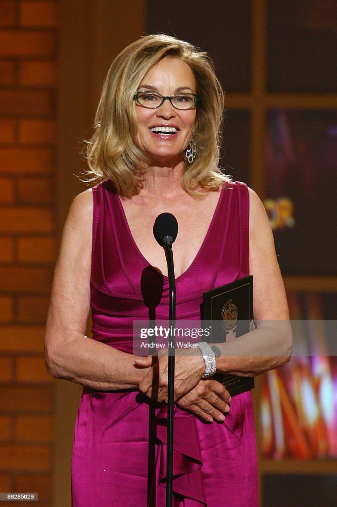 Actress Jessica Lange speaks onstage during the 63rd Annual Tony Awards at Radio City Music Hall on June 7, 2009 in New York City.