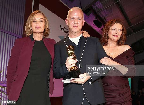 Actress Jessica Lange writer Ryan Murphy and actress Susan Sarandon attend The Hollywood Reporter's Annual Women in Entertainment Breakfast in Los...