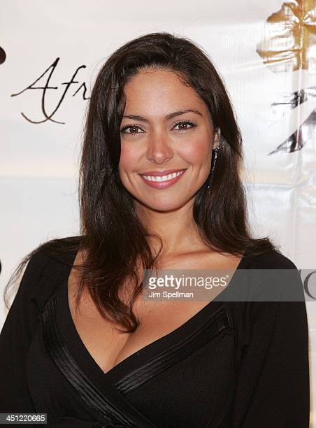 Actress Jessica Leccia arrives at 1st Annual US Doctors for Africa New York Gala at Cipriani Wall Street on October 17 2007 in New York City
