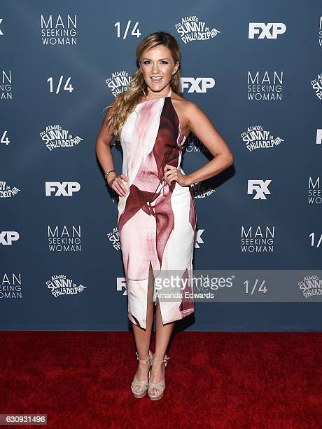 Actress Jessica Lowe arrives at the premiere of FXX's It's Always Sunny In Philadelphia Season 12 and Man Seeking Woman Season 3 at the Fox Bruin...
