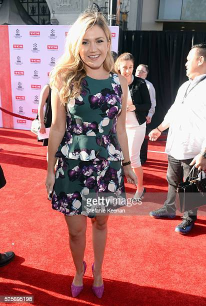 Actress Jessica Lowe attends 'All The President's Premiere' during the TCM Classic Film Festival 2016 Opening Night on April 28 2016 in Los Angeles...
