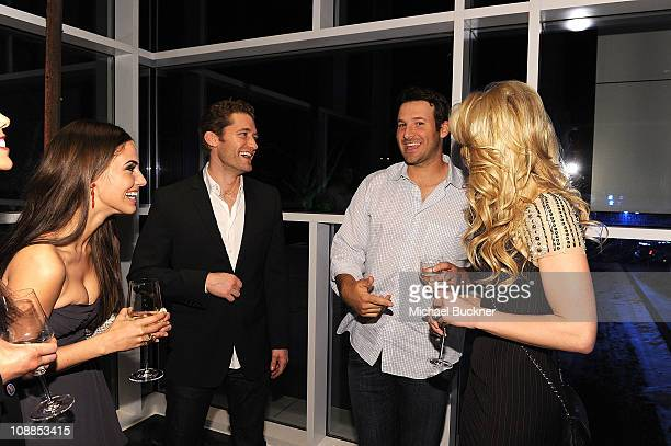 Actress Jessica Lowndes actor Matthew Morrison Dallas Cowboys Quarterback Tony Romo and television personality Candice Crawford attend a private...