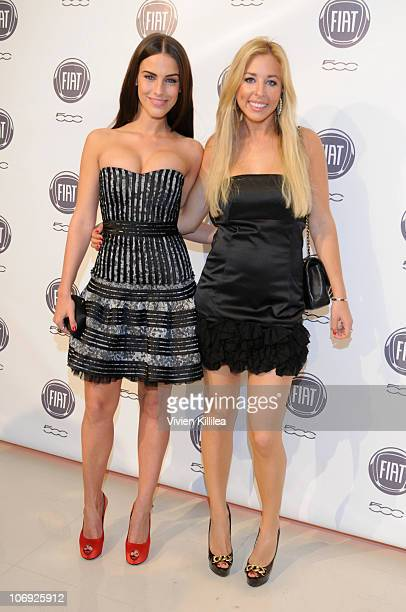 Actress Jessica Lowndes and Jen Charleston attend An Evening With Chrysler on November 16 2010 in Los Angeles California