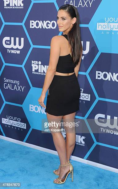 Actress Jessica Lowndes arrives at the 16th Annual Young Hollywood Awards at The Wiltern on July 27 2014 in Los Angeles California