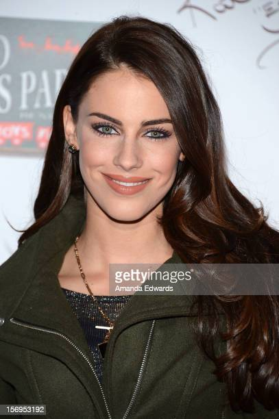 Actress Jessica Lowndes arrives at the 2012 Hollywood Christmas Parade Benefiting Marine Toys For Tots on November 25 2012 in Hollywood California