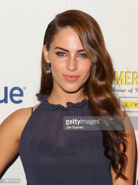 Actress Jessica Lowndes arrives at the second annual Art Mere/Art Pere Night presented by CORZO Tequila at Smashbox West Hollywood on October 6 2011...