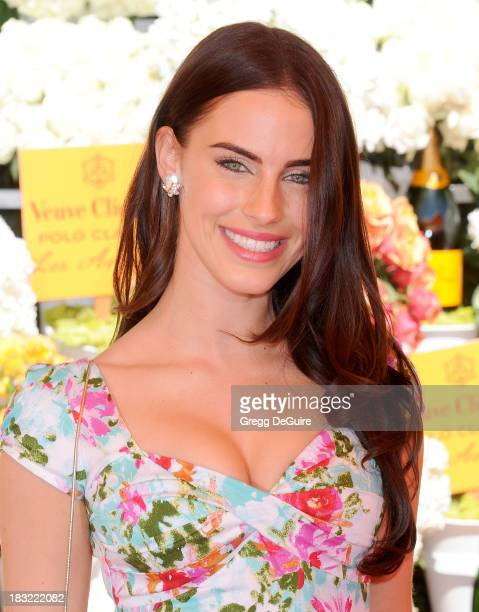 Actress Jessica Lowndes arrives at the Veuve Clicquot Polo Classic at Will Rogers State Historic Park on October 5 2013 in Pacific Palisades...